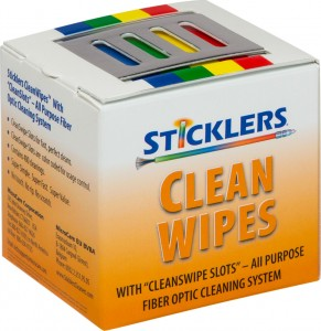 sticklers cleanwipes 400 fiber optic cleaning wipes cable associates